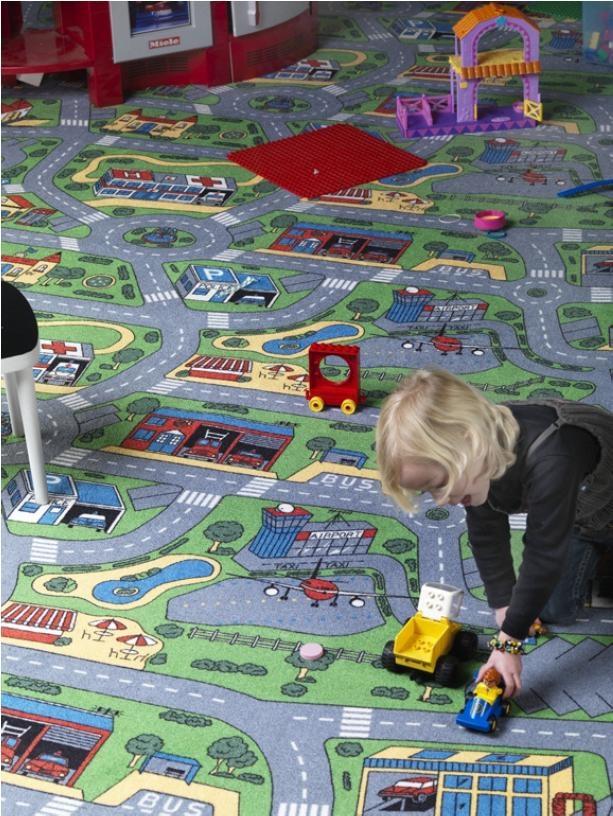 Dětský koberec CITY LIFE šíře 4m, Šíře role Šíře role 4m