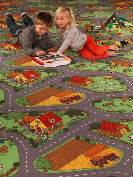 Dětský koberec FARM šíře 4m, Šíře role Šíře role 4m