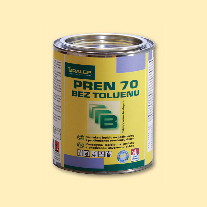 Rozpouštědlové lepidlo na podlahy BRALEP PREN 70 bez toluenu balení 0,9kg