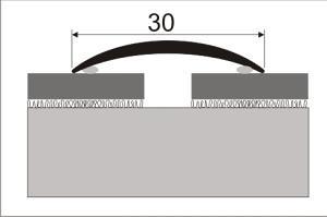 Přechodová lišta samolepící 30mm dekor dřevo 93 cm, Dekor Sosna bílá 35