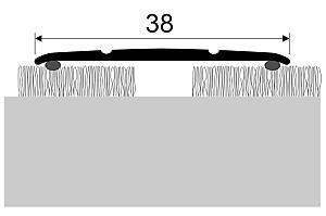 Přechodová lišta samolepicí 35mm plochá dekor dřevo 270 cm, Dekor Sosna bílá 35