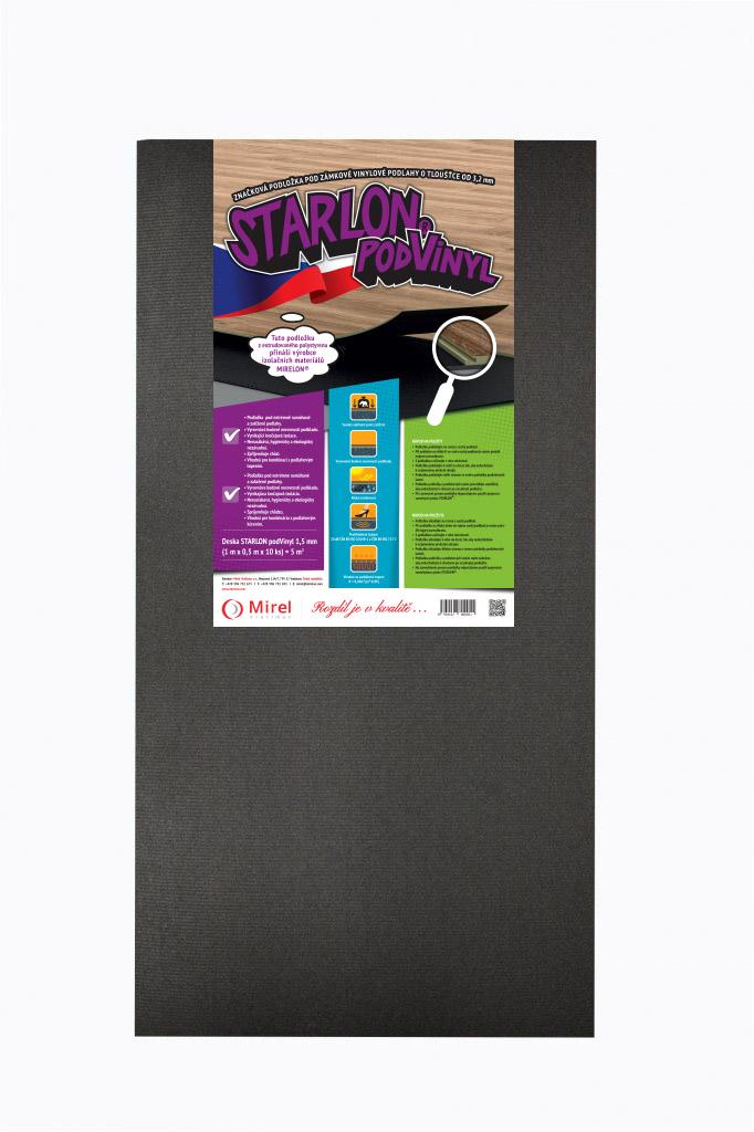 Podložka pod vinylové podlahy STARLON podVinyl deska 1,5 mm, 50 x 100 cm, 10 ks (5 m²)